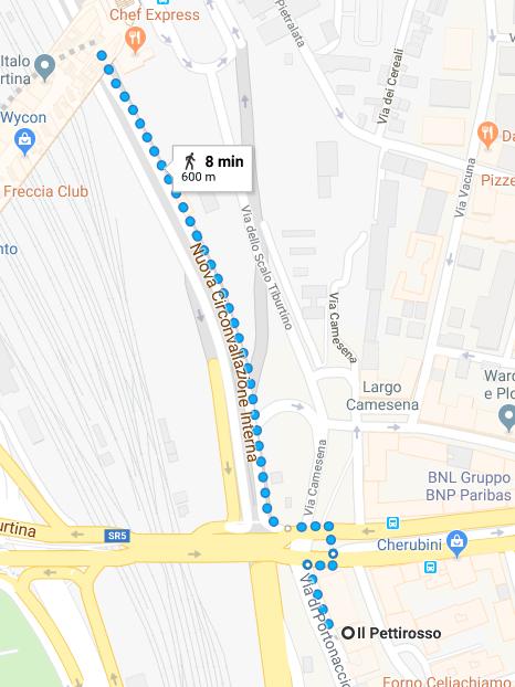 Mappa Ristorante Stazione Stazione Tiburtina